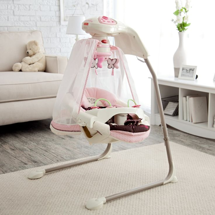 Fisher-Price Butterfly Cradle Baby Swing - Baby Swings at Hayneedle