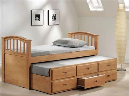 San Marino Maple Wood Full Bed W Twin Trundle