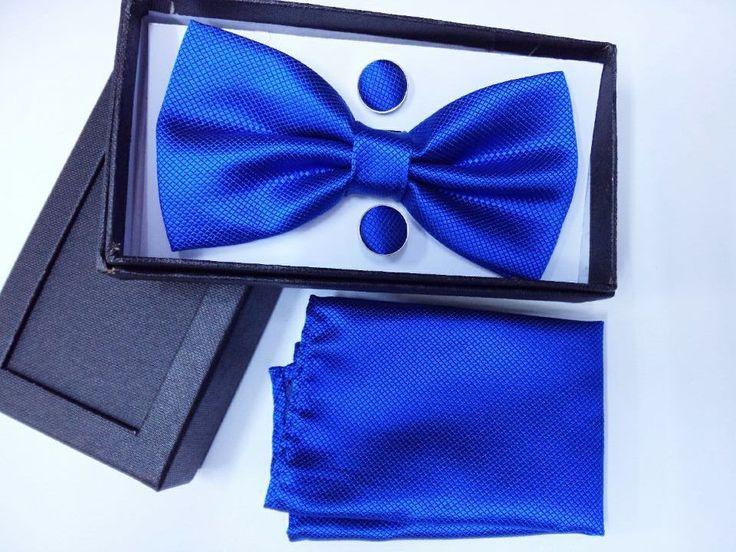 men royal blue wedding bow tie bow tie set box