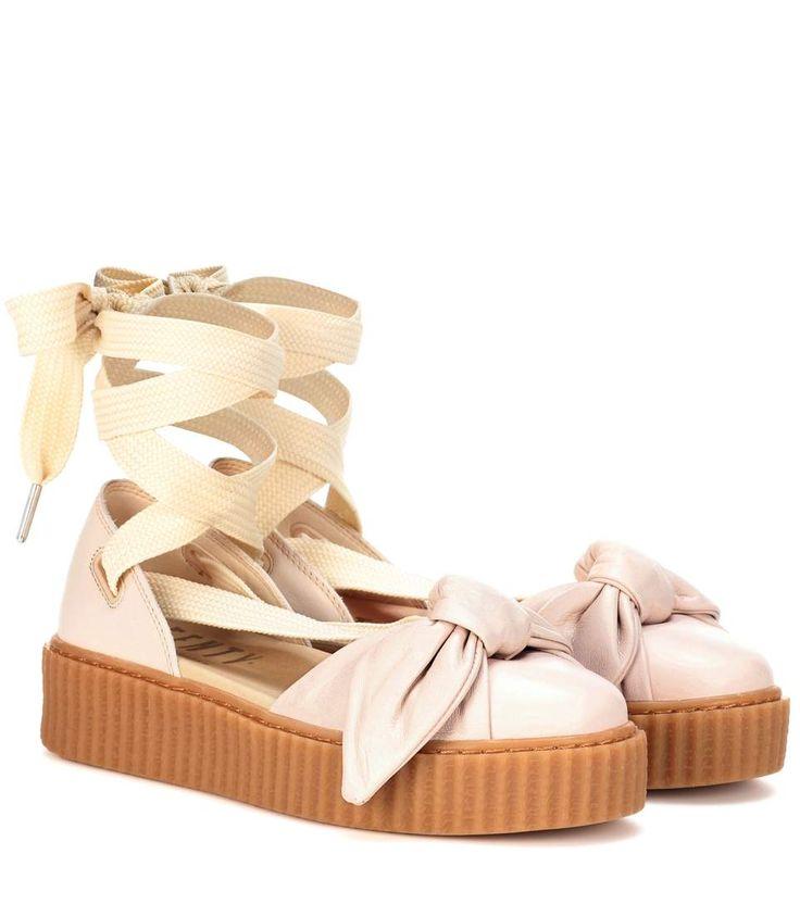 FENTY by Rihanna - Bow Creeper leather sandals | mytheresa.com