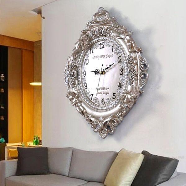 Fashion Elegant Wall Clock Art Deco Wall Clock Mute Bedroom Clock