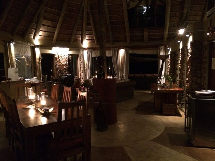 Sibuya Bush Lodge with night lighting, so peaceful! Kenton on Sea, Eastern Cape, South Africa www.sibuya.co.za