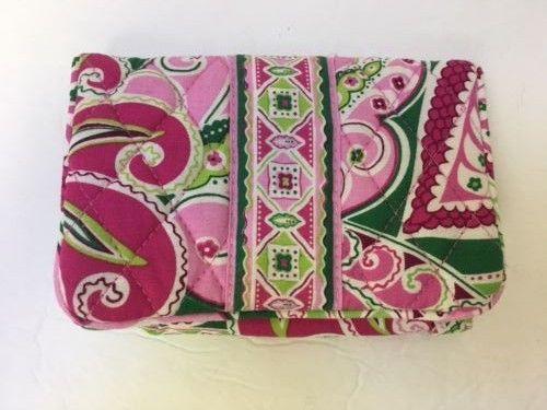 Vera Bradley Pinwheel Pink Taxi Wallet kiss lock coin purse and bifold #VeraBradley #bifoldwallet