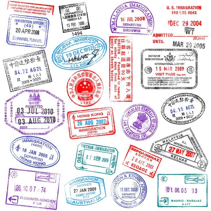 Passport Stamps Design - free vector graphics