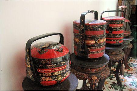 Beautiful Nyonya sia na (wood baskets)... Malaysia