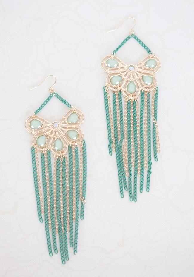 Always Sweethearts Earrings In Green | Modern Vintage Sale