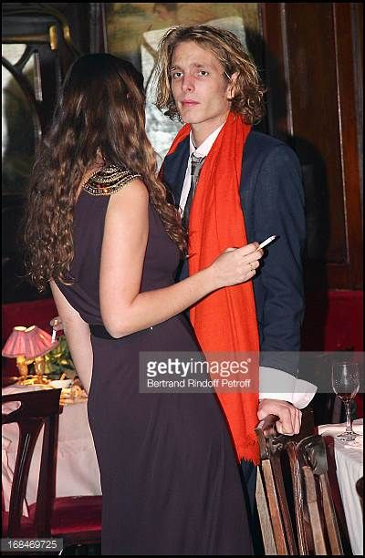 Andrea Casiraghi and Tatiana Santo Domingo Dinner at the restaurant Maxim's in Paris to the benefit of the asssociation OTM which helps children in...