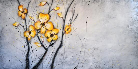 Orange Art Gallery - Julie Berthelot; Purchase Online. Painting . Art. Urban Nature. Flowers