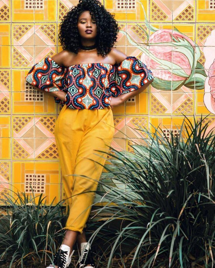 Bobo top ~ African fashion, Ankara, kitenge, Kente, African prints, Braids, Asoebi, Gele, Nigerian wedding, Ghanaian fashion, African wedding ~DKK