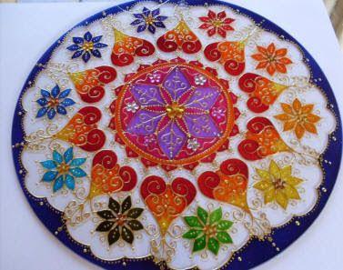 Craft woman: Stained Glass Mandala