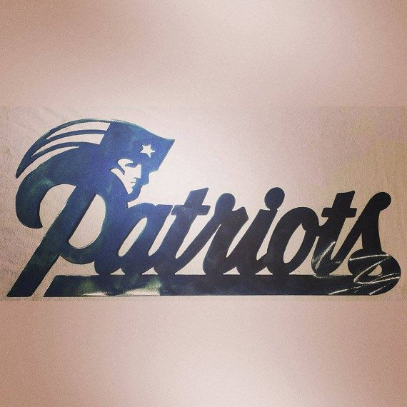 NFL Patriots Logo Art Piece Cut From An 18ga Steel Using A CNC Plasma Cutter Then Grinded Down