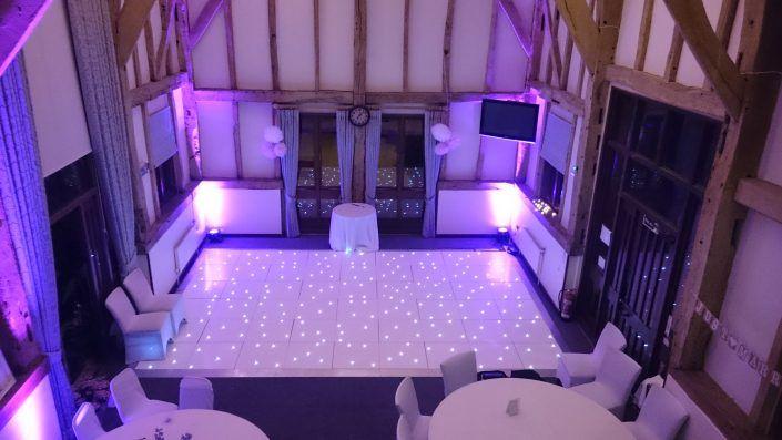 Warnham Barn, West Sussex – LED Dancefloor Hire