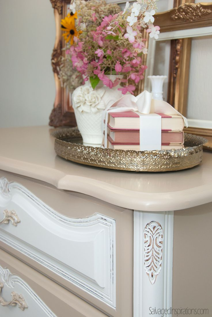 Salvaged Inspirations | Using Custom DIY Chalk/Mineral Paint On Laminate  Furniture