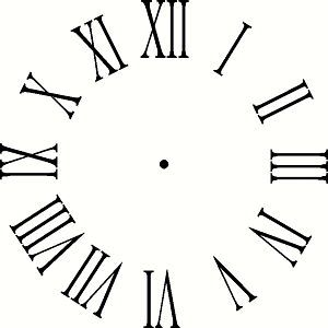 Image Result For Picture Of Clock With Roman Numerals