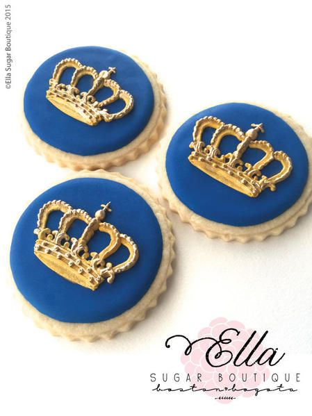 Gold crown cookies.  Stunning.