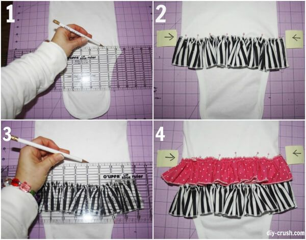 How To Add Ruffles To A Onesie - DIY Crush
