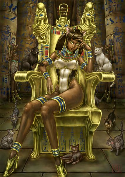 bastet egyptian goddess art - Google Search