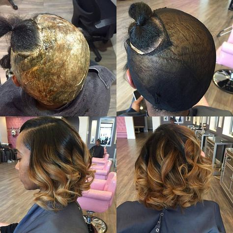 """428 Likes, 6 Comments - Premiere Extension's (@premiereextensions) on Instagram: """"Tag @tre_ismyname -  Quick Weave: STEPS  1/2: The mold- depending on the hair I may only mold the…"""""""