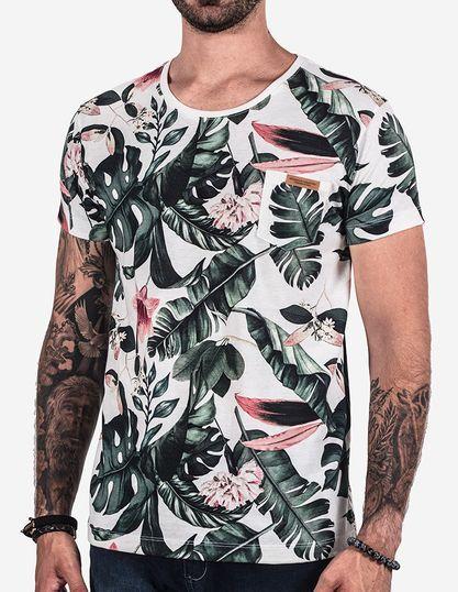 7c26b28794 Camiseta Floral Branca - Hermoso Compadre Camisetas Masculinas