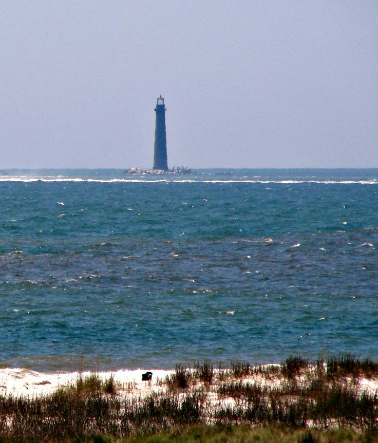 Fort Morgan Beach Houses: Sand Island Lighthouse, In Mobile Bay. Photo Courtesy Of
