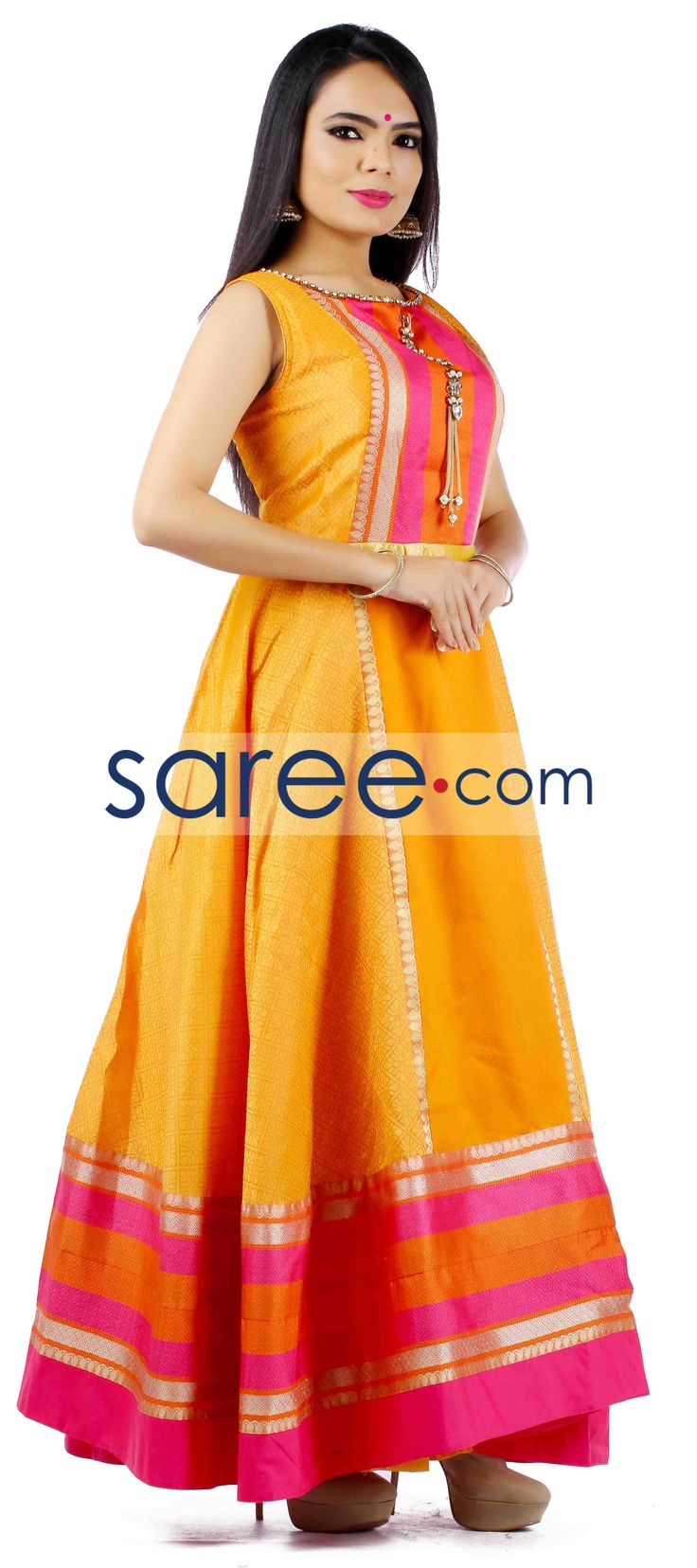 YELLOW SILK ANARKALI SUIT  #SalwarSuit #SalwarKameez #AnarkaliSuits #PartywearSalwarSuits #SalwarSuits #Indowestern