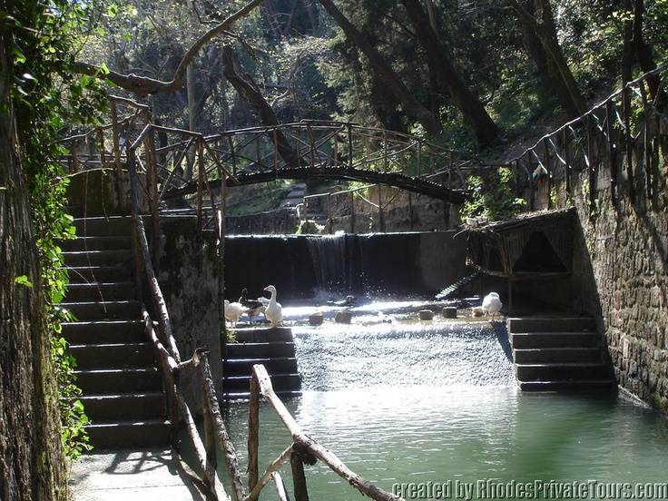 The Rodini Park - Rhodes Island Greece