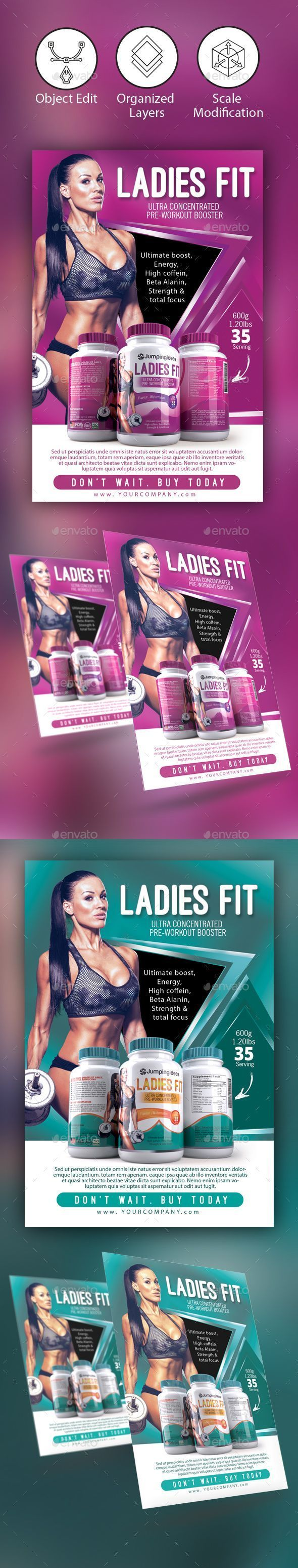 Fitness/ Gym Flyer Template – Corporate Flyers