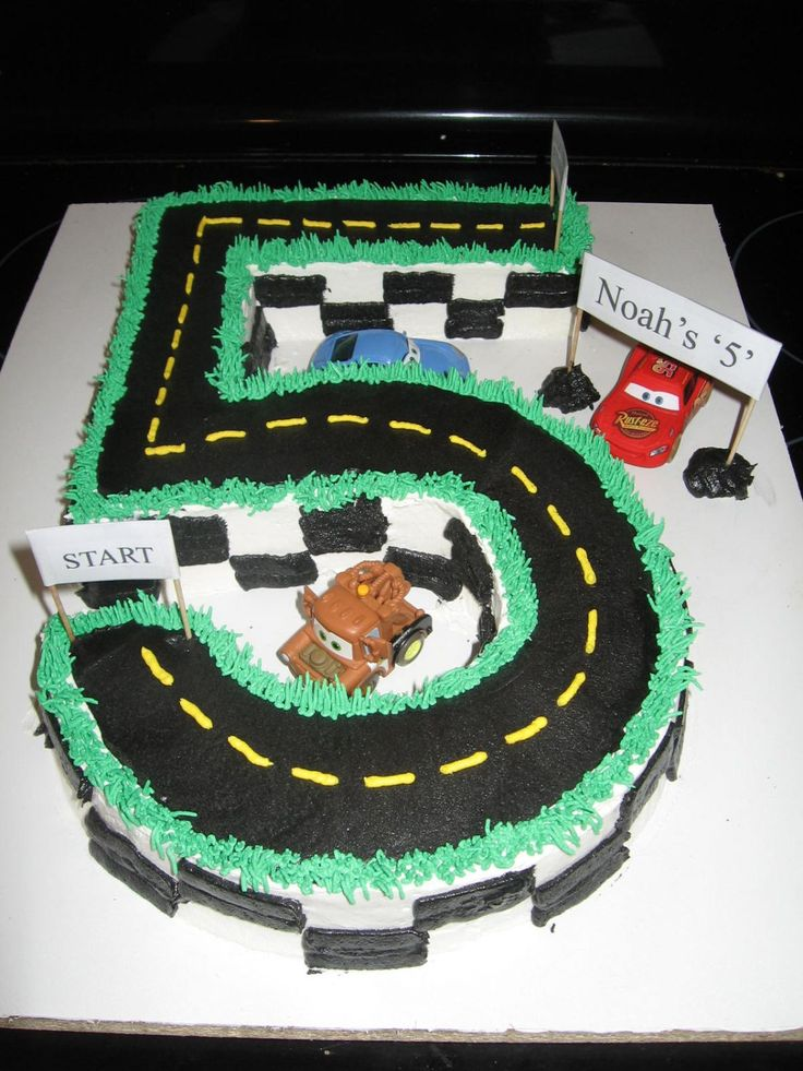 Cars Birthday Cake Number Quot 5 Quot Race Track Cake For My Son
