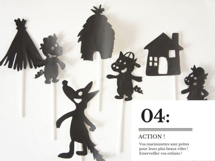 DIY : un théâtre d'ombres {les 3 petits cochons}