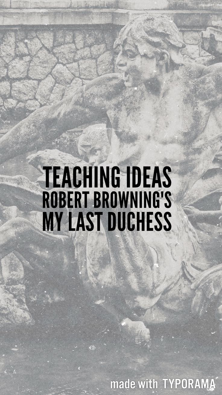 Blog post - ideas for teaching Browning's My Last Duchess from the AQA Conflict Poetry Anthology  || Ideas and inspiration for teaching GCSE English || www.gcse-english.com ||