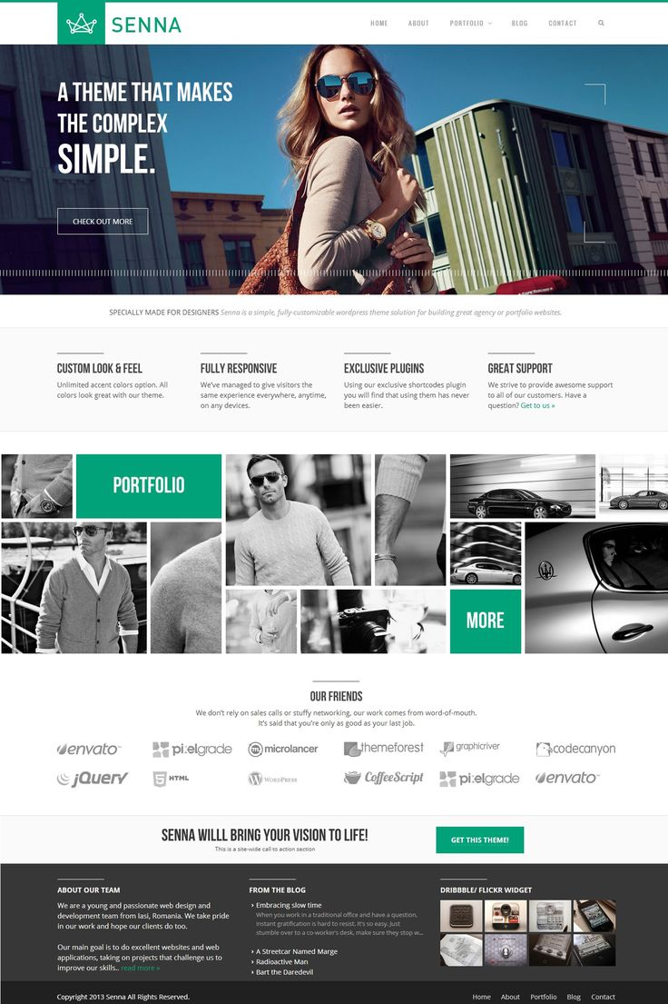 Portfolio / Blog WP Theme by WordPressAwards.deviantart.com on @deviantART #flatdesign #webdesign