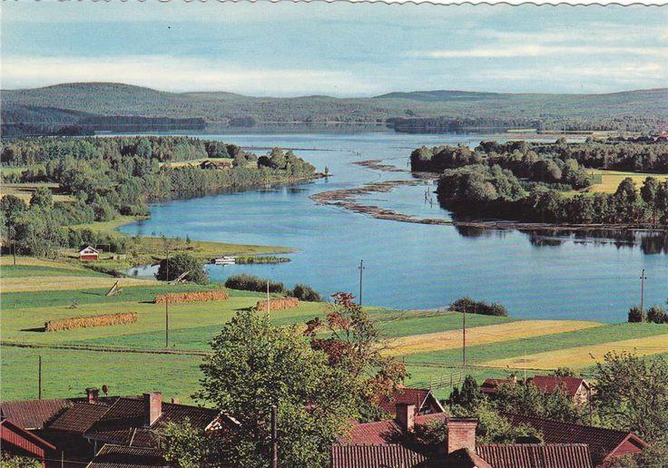 Leksand. Utsikt från bystugan i Ullvi. på Tradera.com - Vykort och
