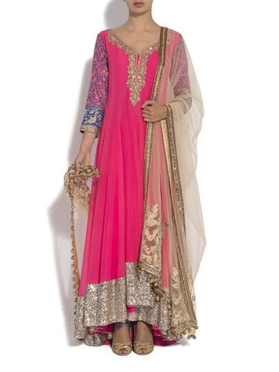 Gorgeous Anarkali, Colors by http://www.ManishMalhotra.in/