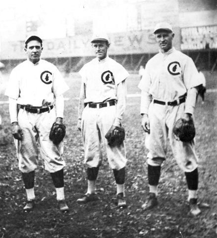 Photo: Early 20th Century Chicago Cubs players, from left, Tinker, Evers, Chance