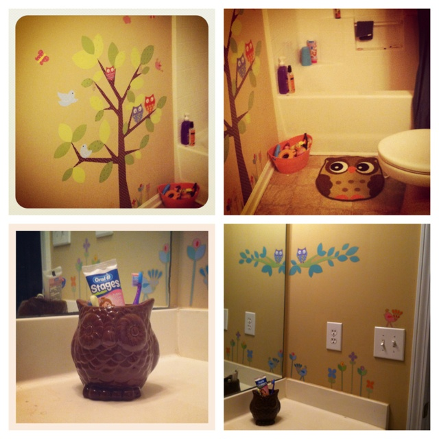 Owl Bathroom For The Girls  $39 From Target: $19.99 Kids Tree Wall Decals