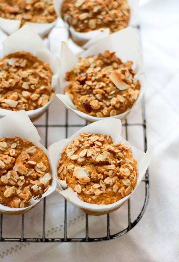 pumpkin granola muffins.