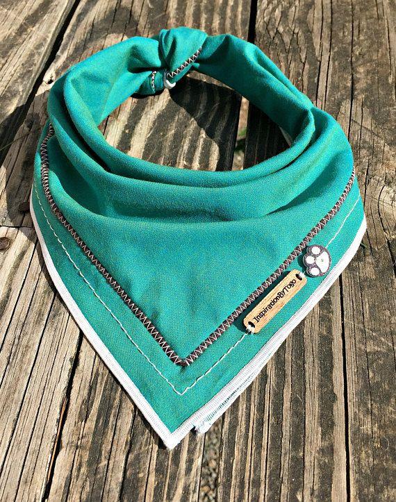 Turquoise dog bandana, southwestern bandana, teal dog bandana, dog accessories, puppy scarf, puppy, dog, dog apparel, native: ALMALFI