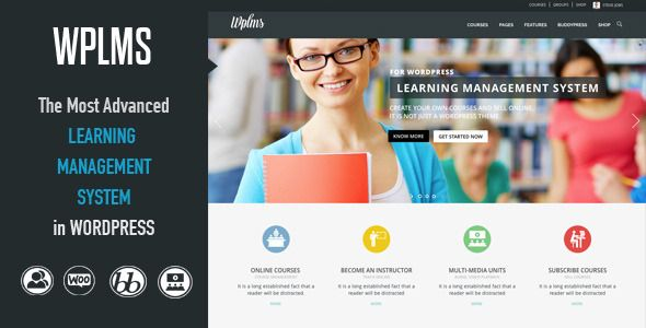 WPLMS Powerful Learning Management System Responsive WordPress Theme