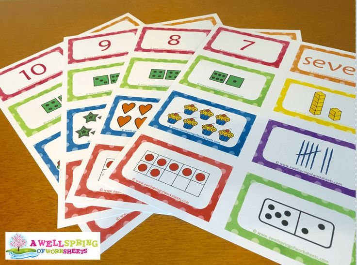 Number Cards Matching Game - Great for learning numbers 1-20 in numerical form and written form, and so many other ways. Print out each page as seen above, then cut apart into individual cards.