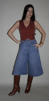 I wore gauchos in the 70s.