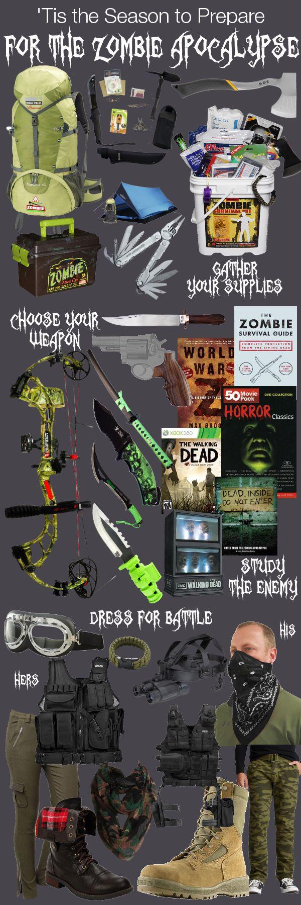 Survival Zombie Apocalypse:  'Tis the Season to Prepare for the #Zombie #Apocalypse.