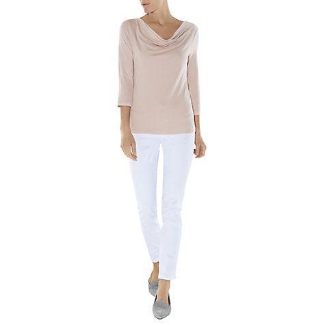 Buy Hobbs Sophia Cowl Neck Top, Rose Bud Pink Online at johnlewis.com
