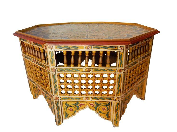 Moroccan 8 Sided Coffee Table on Chairish.com
