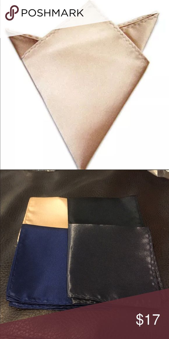 Men's High Quality Satin Silk Pocket Square Hanky Men's High Quality Satin Silk Pocket Square Hanky Gentlemens Shop Accessories Pocket Squares