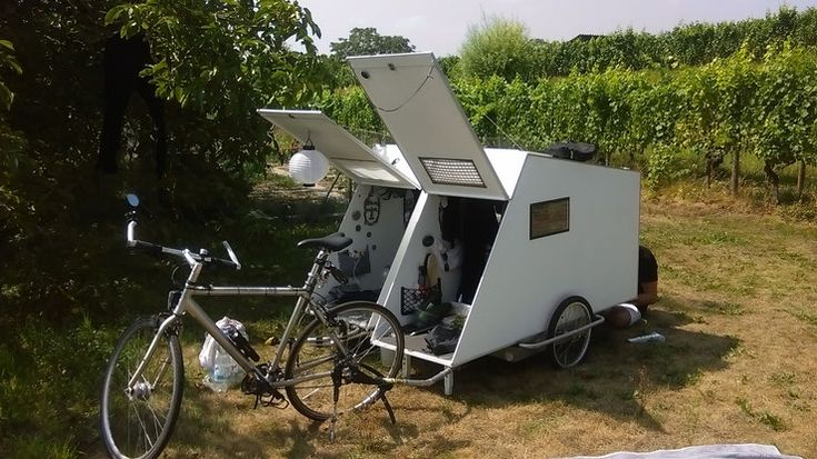 286 best bike camper images on pinterest campers bicycles and cycling. Black Bedroom Furniture Sets. Home Design Ideas