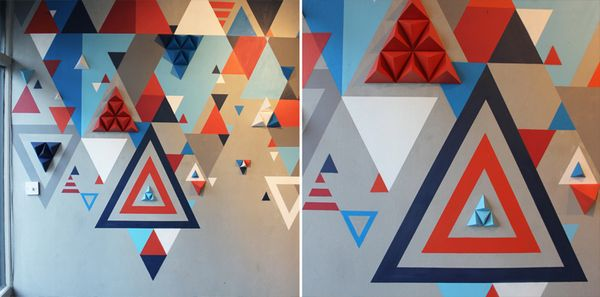 UNLIKE exhibition by z i c s , via BehanceGraphics Ideas, Offices Design, Paper, Graphics Design, Badass Design, Behance Network, Interiors Graphics, Geometry Triangles, Graphics Geometry