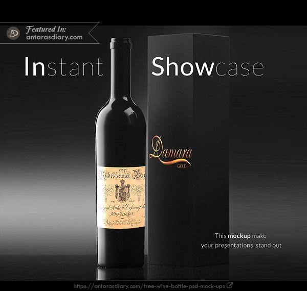 Download Free Wine Bottle And Wine Box Mockup Garrafas De Champanhe Sacolas De Compras Garrafa De Vinho