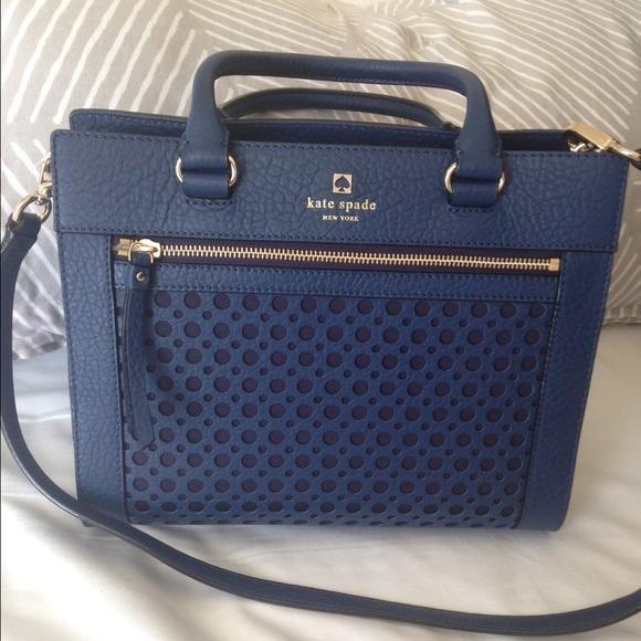 kate spade Handbags - Kate Spade Navy Handbag on Poshmark