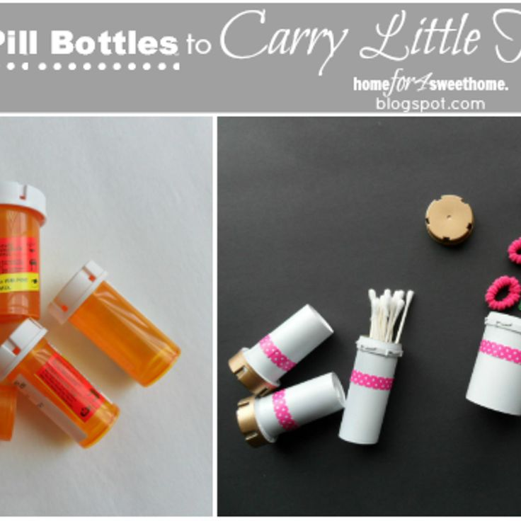 Reuse bottle little things and pills for Things to do with pill bottles