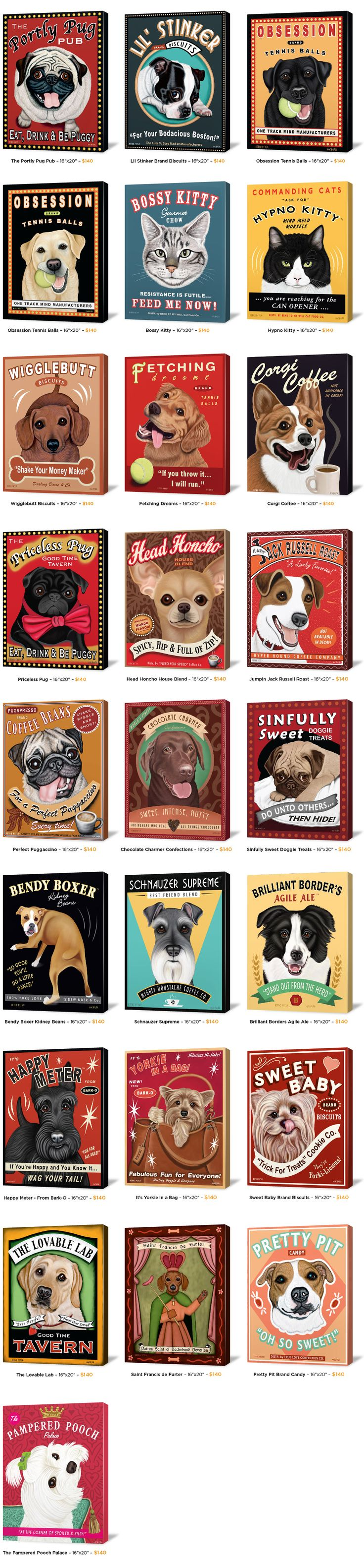 vintage dog posters...momma adryan would love this :o)